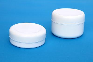 PVC Kutija za kreme zapremine 125ml pljosnata i 200ml visoka bijela