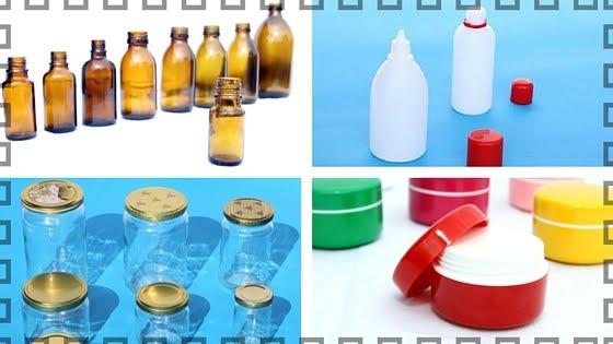 Katalog ambalaže - staklene i plastične boce, kutije za kreme, aluminijske tube i drugo